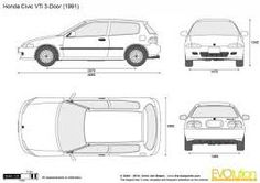 how to draw a 2010 honda civuic