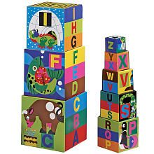 The BEST toy for toddlers!  Both my kiddos LOVED these!  Hours of fun with the Melissa & Doug Deluxe Alphabet Nesting & Stacking Blocks