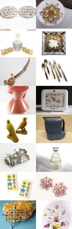 Mid Century Marvelous! A wonderful collection of mid century finds, courtesy of the Vintage Vogue Team and friends. Curator: Anna Ragland from https://www.etsy.com/shop/baublology #voguet #vintage #Etsy #Treasury #MidCenturyModern #MidCentury #DanishModern #Home #Jewelry #Decor