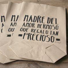 """Image of Pack de 5 bolsas """"Madre del amor hermoso, qué regalo tan precioso"""""""