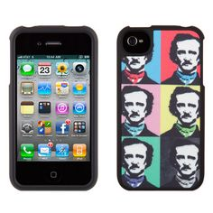 Edgar Allen Poe pop art and other great bookish tech covers.
