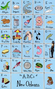 The ABC's of New Orleans Poster Print by AaronDamon on Etsy, $25.00