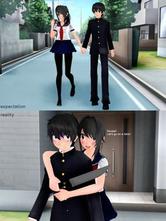 lol Yandere, Senpai by DrasiSw Knife by The-horrible-mu Stage by [MMD] Expectation and reality Expectation Vs Reality, Yandere Simulator, Cybergoth, Types Of Art, Deviantart, Cartoon, Cute, Moon, Games