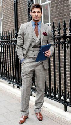 Grey 3 piece suit....SMOOTH!