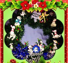 2012 christmas 101 Dalmatian christmas wreath i made