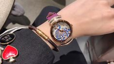 Watch name: Peacock Pattern Leather Women's WatchWatch case: Copper caseWatch strap: Leather strapWatch movement: Japanese movementWaterproof: For daily waterproof use onlyProduct size: Dial diameter: Thickness: Cool Watches For Women, Peacock Pattern, Watch Case, Make Time, Bracelet Watch, Watch Video, Leather, Stuff To Buy, Accessories