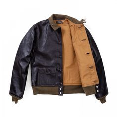 The Real McCoy's Type A-1 MFG Co. Leather Jacket - Seal Brown. MadeInJapan