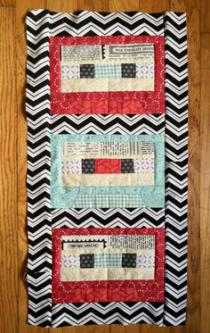 A cassette tape quilt that's perfect for a music nook or teen room!