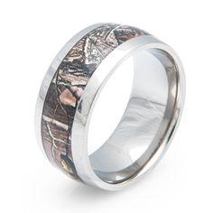 Men's Titanium Realtree APG Camo Ring