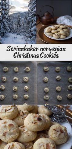 Serinakaker (Norwegian Christmas cookies) #ChristmasCookie Yummy Cookies, Sugar Cookies, Pearl Sugar, Norwegian Christmas, Buttery Cookies, Vanilla Sugar, Vanilla Essence, Best Cookie Recipes, Baking Sheet