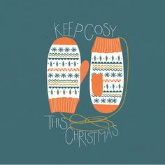 Keep Cosy Christmas Card by HelloPaperMoon on Etsy