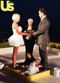 Tori Spelling and Dean McDermott, vow renewal, 2010