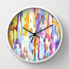 Amy Sia Dance Wall Clock painterly