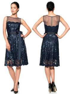 348-Tadashi-Shoji-Illusion-Yoke-Embroidered-Sequin-Lace-Royal-Navy-Dress-10