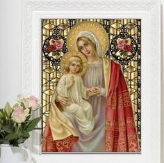 Browse our large selection of traditional Catholic cards and gifts in the Shower of Roses Shoppe. Funeral Prayers, Catholic Mass, Easter Religious, Mary And Jesus, Easter Traditions, Baptism Invitations, First Holy Communion, Prayer Cards, Heart Cards