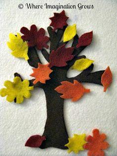 Fall Tree Felt Board Activity