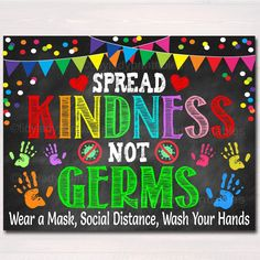 Spread Kindness, Not Germs! Cute and Adorable Health Safety Poster for Schools and Classrooms. Printable posters are great for school nurse or pediatric nurse/doctor offices! Works well for pediatric health offices, kid's health clinics, school health rooms, classrooms and more! ________________________________________________ THIS IS A DIGITAL PRODUCT. NO PHYSICAL ITEM WILL BE SENT TO YOU. • Watermark will not appear on your files This product is an INSTANT DOWNLOAD. Items will be delivered ele Nurse Bulletin Board, Health Bulletin Boards, Kindness Bulletin Board, Office Bulletin Boards, Elementary Bulletin Boards, Back To School Bulletin Boards, Elementary Schools, January Bulletin Board Ideas, Bulletin Board Ideas For Teachers