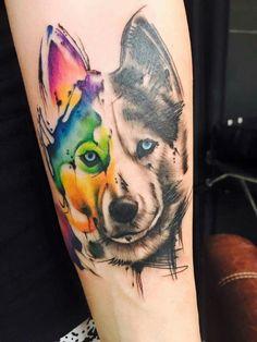 50 Wolf Aquarell Tattoo Designs für Männer – Cool Ink Ideas – My World Wolf Tattoos, Cool Arm Tattoos, Arm Tattoos For Guys, Trendy Tattoos, Popular Tattoos, Cute Tattoos, Animal Tattoos, Body Art Tattoos, Forearm Tattoos