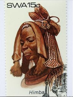 South West Africa 1982 - Himba (Südwestafrika) (Traditional headdresses) Mi:NA-SW 486 Postage Stamp Art, My Heritage, West Africa, Egypt, Culture, Traditional, Artwork, Poster, Fictional Characters