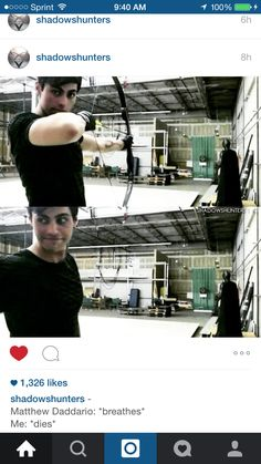 What's Batman doing over there lol. Alec Lightwood. Matthew Daddario. Shadowhunters cast TV show
