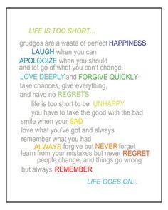 'Life Is Too Short' Box Framed Print by Suzanna Sahakyan