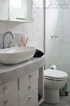 Banheiro de um apartamento de 92 m², projetado por Paula Bagatini Fiegenbaum.