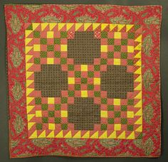 Irish Chain Crib Quilt: Circa 1880; Pennsylvania