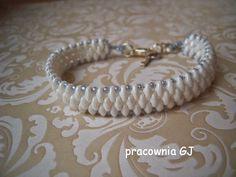 Pracownia GJ: Bransoletka z koralików Super Duo/ Super Duo bracelet