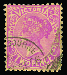 Victoria 220a var (435) 1906 2d lilac Q Victoria, wmkd V over Crown, perf 11, well centered, lightly canceled