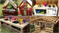 Nábytek z palet pro děti   Prima nápady Diy And Crafts, Crafts For Kids, Wooden Diy, Wooden Furniture, Room Decor, Yard, House Styles, Gardening, Babies