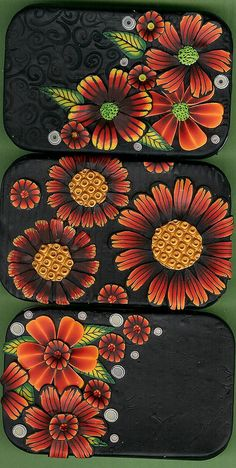 Altoids containers covered in polymer clay by Marianne Loveless
