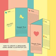 How to Make a Brochure in Adobe Illustrator -- via wikiHow.com