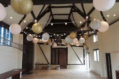 Festoons with Grey Gold and Blush Lanterns Ceiling Canopy, Ceiling Lights, Festoon Lights, Grey And Gold, Fairy Lights, Vintage Looks, Lanterns, Blush, Chandelier
