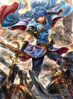 Prince Marth of [Fire Emblem cipher] allies ... by Kazuhiro Taneda