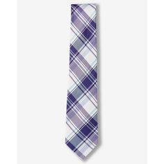 Express Plaid Narrow Silk Blend Tie (39,495 KRW) ❤ liked on Polyvore featuring men's fashion, men's accessories, men's neckwear, ties, purple, mens ties, mens plaid ties and mens purple ties