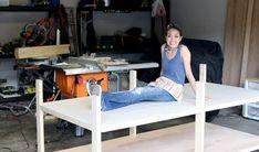DIY Workbench Easy Woodworking Projects, Woodworking Bench, Woodworking Tools, Wood Projects, Building A Workbench, Workbench Plans, Workbench Designs, Garage Workbench, Garage Shelf