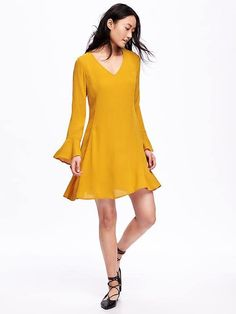 Crepe Swing Dress