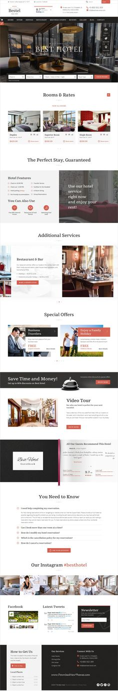 Bestel is clean and modern design responsive #bootstrap HTML #template for #hotels and #resorts beautiful website to live preview & download click on Visit