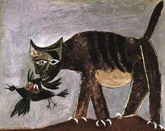 Cat Grabbing A Bird, Pablo Picasso (1939)