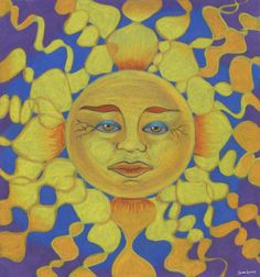 Old Man Sun Drawing by Jaime Haney - Old Man Sun Fine Art Prints and Posters for Sale