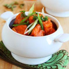 tofu in tomato cream curry sauce