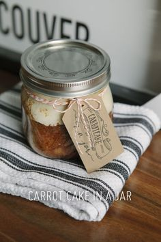 Pretty Carrot Cake-In-A-Jar (with a darling tag too!!)