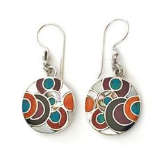 Pendientes lunares Sterling Silver Earrings, Dangle Earrings, Silver Jewelry, Filigree, Natural Stones, Jewerly, Dangles, Enamel, Stained Glass