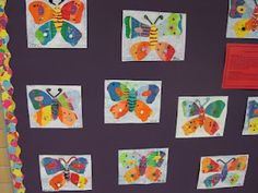 Eric carle butterlfies...read this blog! O'Keefe, weaving, and more