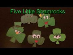 http://littlestorybug.com  This is a great activity for preschool children for St. Patrick's Day.   the children will love the green shamrocks with funny faces. This activity comes from http://www.dltk.com   Enjoy!
