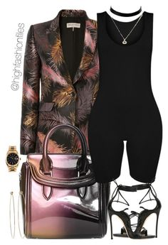 """""""Dress it Up"""" by highfashionfiles ❤ liked on Polyvore featuring Emilio Pucci, Alexander McQueen, Dsquared2, Dean Harris and Rolex"""