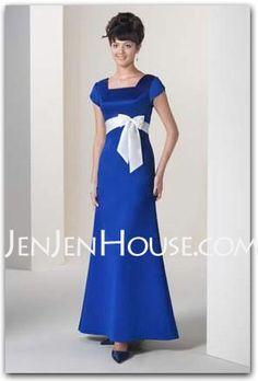 Bridesmaid Dresses - $99.99 - A-Line/Princess Scoop Neck Floor-Length Satin Bridesmaid Dresses With Sash (007001488) http://jenjenhouse.com/A-line-Princess-Scoop-Neck-Floor-length-Satin-Bridesmaid-Dresses-With-Sash-007001488-g1488