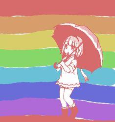 Colorful puddle stomping or kana kaumi from miss kobayashi's maid dragon