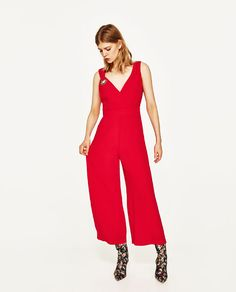 ZARA - WOMAN - CROPPED JUMPSUIT WITH METALLIC DETAIL