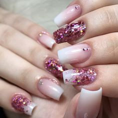 Sparkle Nails, Fancy Nails, Pretty Nails, Mani Pedi, Pedicure, Nagel Hacks, Nails Polish, Nagellack Trends, Finger